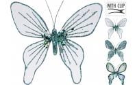 [Dekoračný motýľ na štipci modrý 15 cm - rôzne druhy]