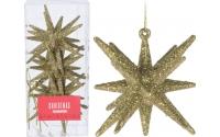 [Sada 3 ks zlatých závesných vianočných hviezd ]