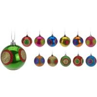 [Farebné vianočné gule 12 ks x 60 mm]
