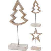 [Drevená vianočná dekorácia na podstavci - 2 druhy]
