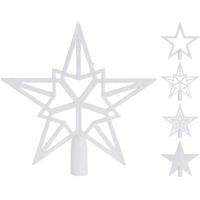 [Biela vianočná špica na vianočný stromček]