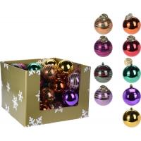 [Plastová vianočná guľa 12 cm - rôzne farby]