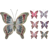 [Dekoračný motýľ na štipci farebný 20 cm - rôzne druhy]