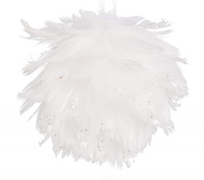 Anjelská vianočná guľa biela RAFAEL