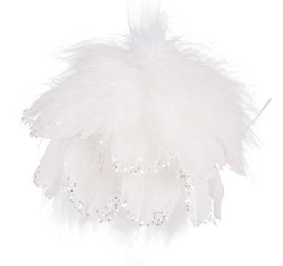 Anjelská vianočná guľa biela URIEL