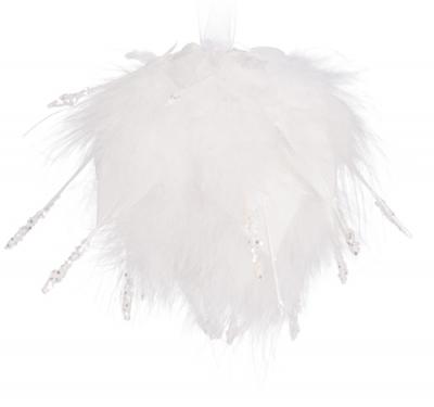 Anjelská vianočná guľa biela GABRIEL