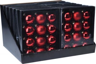 Sada 12 ks sklenených vianočných gúľ - rôzne farby