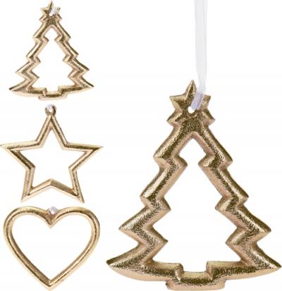 Zlatá kovová ozdoba - 3 druhy