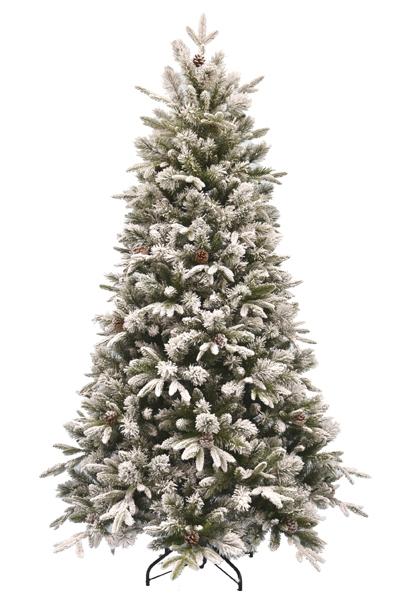 Vianočný stromček zasnežený so šiškami EMERALD ROSEMARY 3D